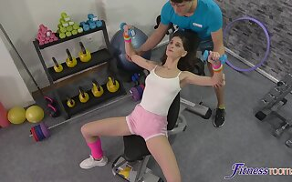 Suit girl Lana Seymour gets fucked balls deep by a personal trainer