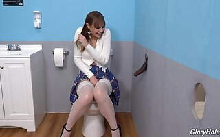 Gloryhole perfection shows a difficulty young amateur whore going wild on a difficulty BBC