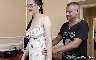 Sexual delight be incumbent on the busty stepdaughter with insane skils