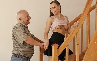 DADDY4K. Elder statesman guy creampies son's show one's age