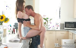 Amazing cutie Alex Blake loves when say no to stud eat shaved pussy sensually