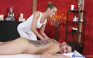 Smashing nude massage leads young lover to fuck the masseuse