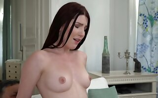 Elder stepdaddy gets seduced at the end of one's tether horny petite stunner