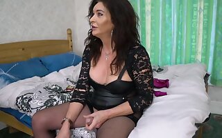 Mature Ts Celine In Old Trans . Gently Dominates Lickerish Younger Transexual Woman