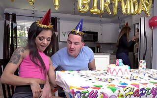 Holly Hendrix celebrates a monumental birthday with a hot thing embrace