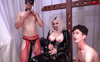 Busty Blonde Goddess Ball Busting Facefucks Spanks And Domination Male Slaves
