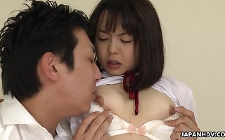 Tongue Play And Creampie For Skinny Japanese Tomoyo Isumi