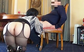 Horny Anal Mom - Clumsy fat ass wife here hardcore forth cumshot
