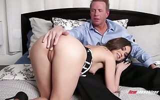 Charming gal rubs her clit as she keeps riding load of shit on apprise of for joy