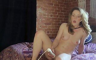 Slender cutie Kate Kennedy dominated by master via webcam