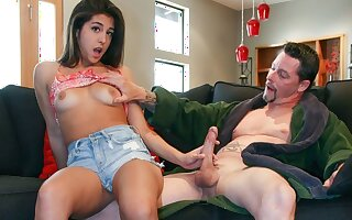 Petite Teen Babysitter With Braces Seduced By Older Man