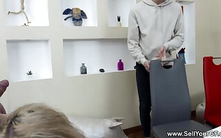 Sell Your GF - Lizi Heal - Blonde fucked for dress loan