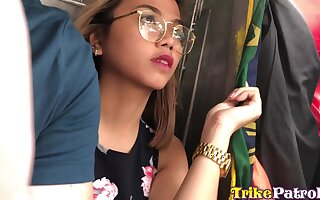 Apple of someone's eye wide pretty and busty Filipina nympho Mary is into riding strong cock