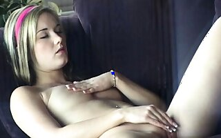 Fetish solo milk enema squirting added to fingering pussy