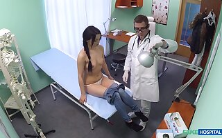 Shy gloominess ends up getting laid with her physician