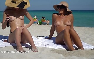 Outcast girls with nice tits goof off