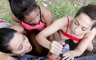 Girl orgy When Annika Eve, Mya Mays, plus their