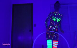 Blacklight Paint Dildos & Hooping- thank you for 50K!